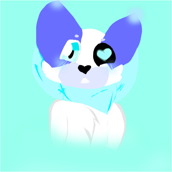 Kitty Blue~Old OC new look!