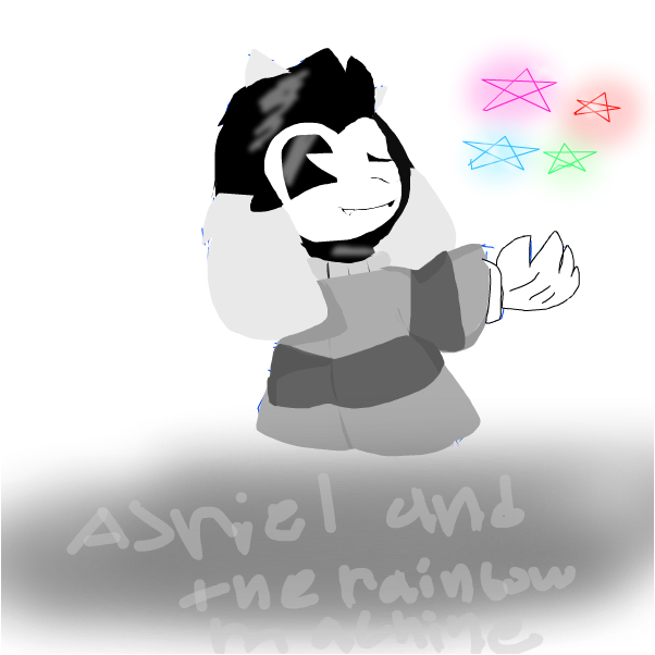 Asriel and The RAINBOW MACHINE.