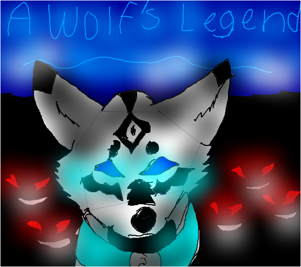 A Wolf´s Legend (book cover)