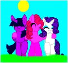 rarity and pinkie pie and twilight sparkle