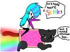Riding NyanCat