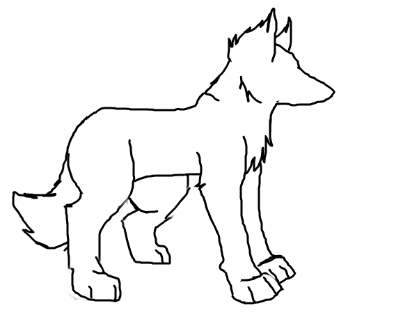 Wolf outline ~wolf