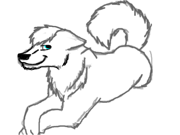 Wolf outline~wolf