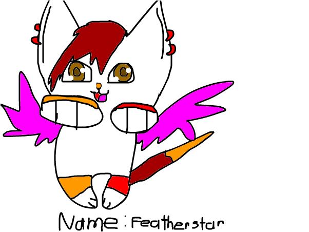 Name: Featherstar. Status: Fighter's apprentice.