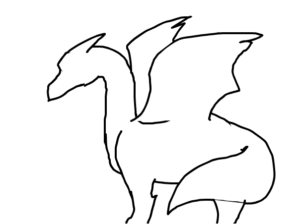 Dragon outline