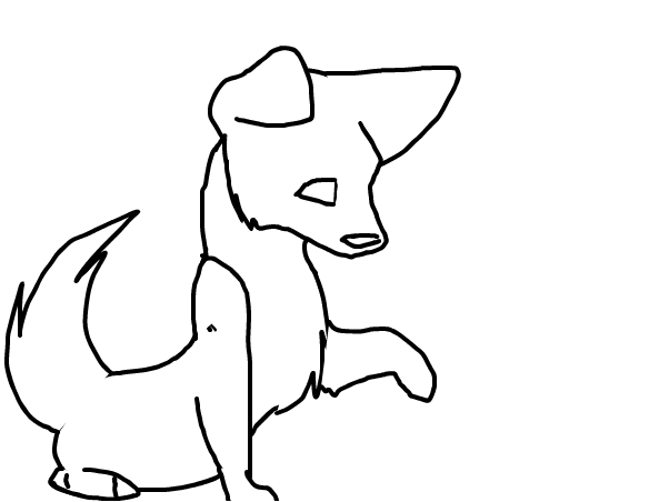 Cute puppy outline!