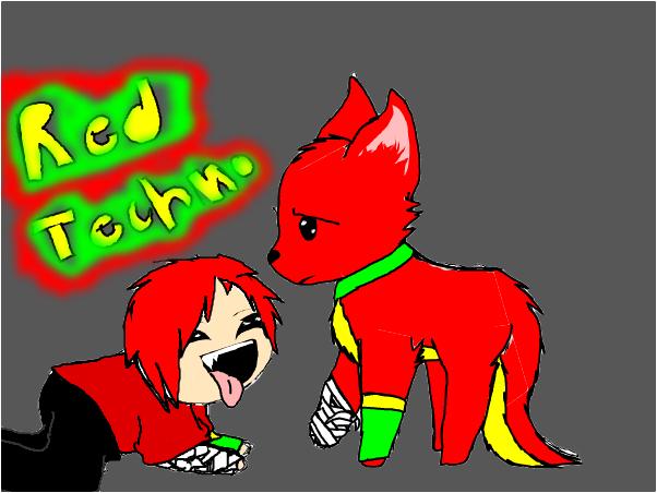Red Techno Fanart c: