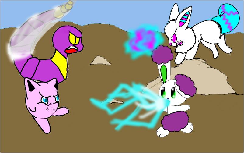 Pokemon battle with Ritsuka.