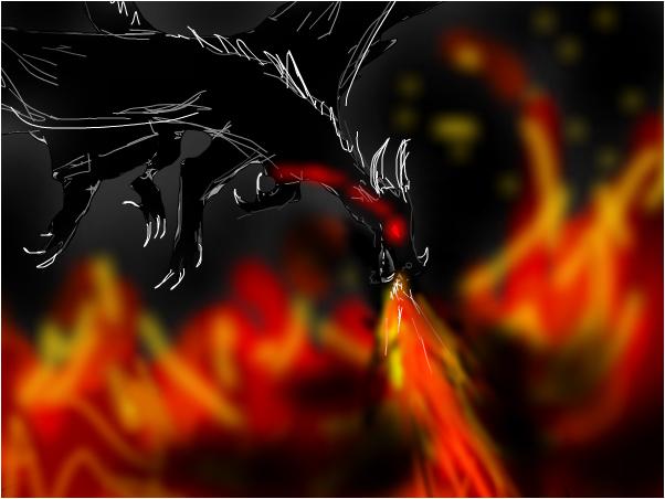 Ocean of flames