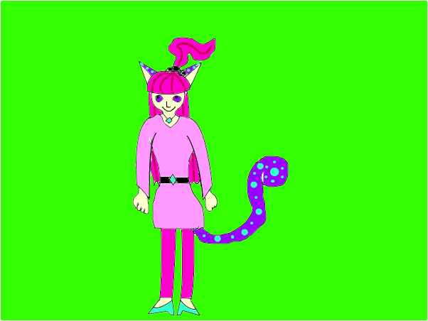 maya kitty cat's cat/human form!