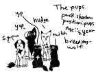 pack members:The pups~Sky