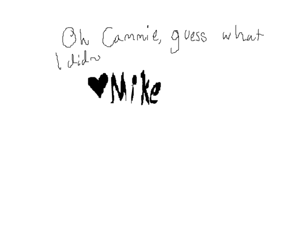 Oh Cammie!