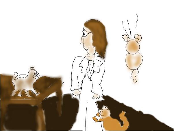 John Lennon and the cats