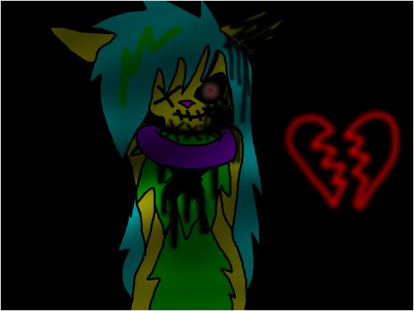 My creapy dead fursona >:D ~ Maya