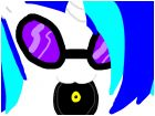 DJ-Pon3 (Vinyl Scratch) cute backround