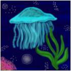 Jelly Fish under the sea
