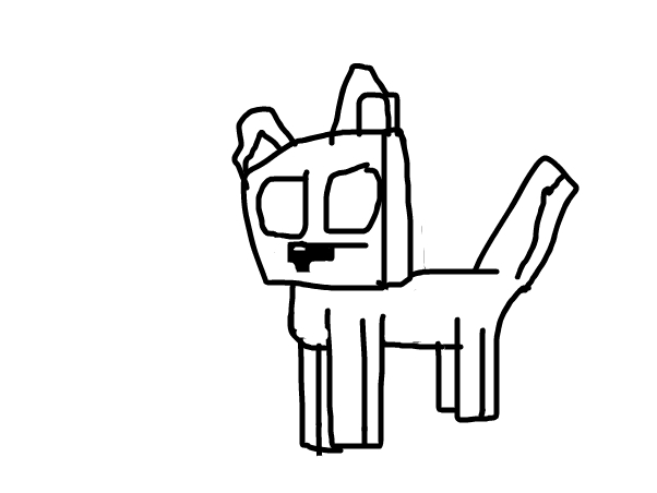 Minecraft wolf animation drawing base