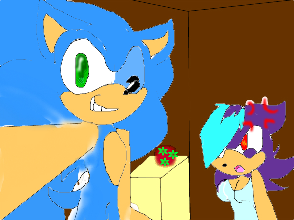 (Sonic) come on! take a pic with me! (Ada) GET OUT
