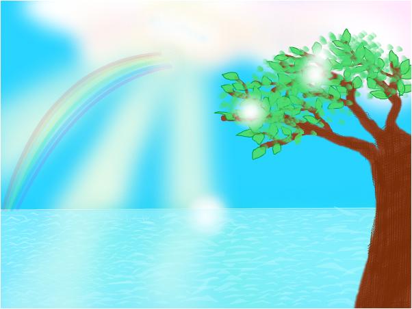 Random rainbow and tree
