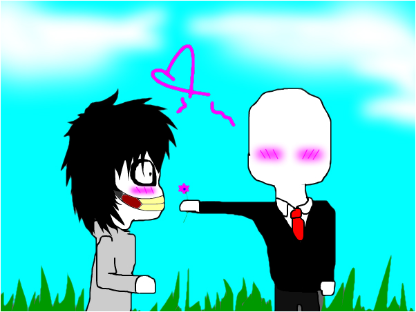 me and slendy<3