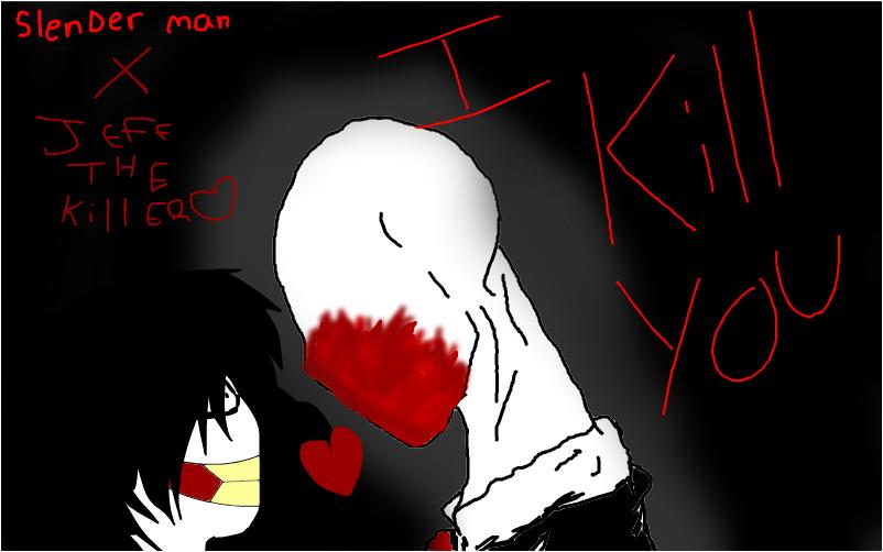 slenderman X jeff the killer