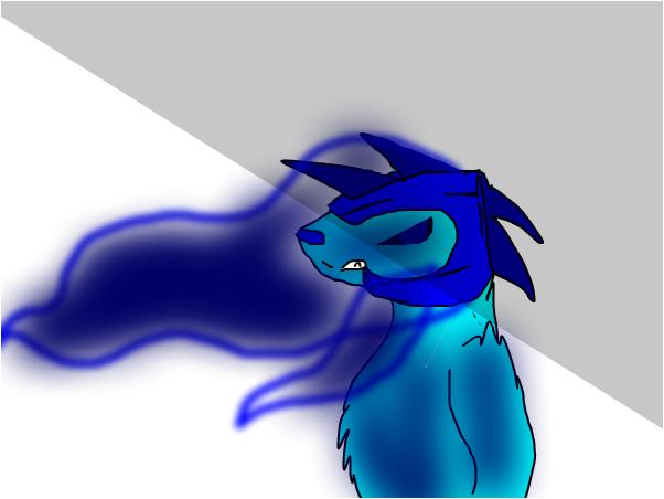 My new fursona blu shadow