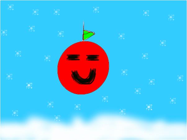 pomme sadique en plein hiver