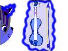 """moonstar unicorn """"bo"""" playin violin XD"""