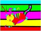 NEON cat. meow