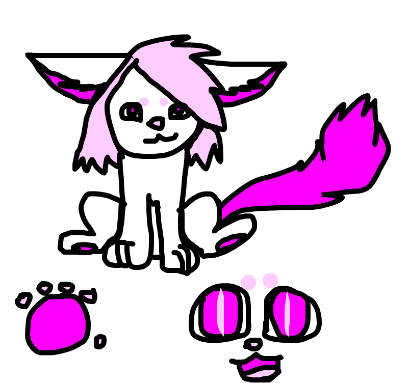 My other sister's fursona, Pinky~