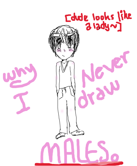 Why I never Draw Males.