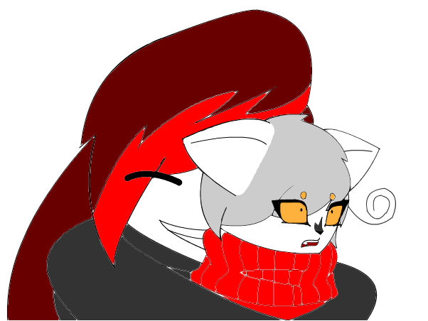 Mia Eleki and Goku Cat