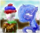 Slenderkid and Luna