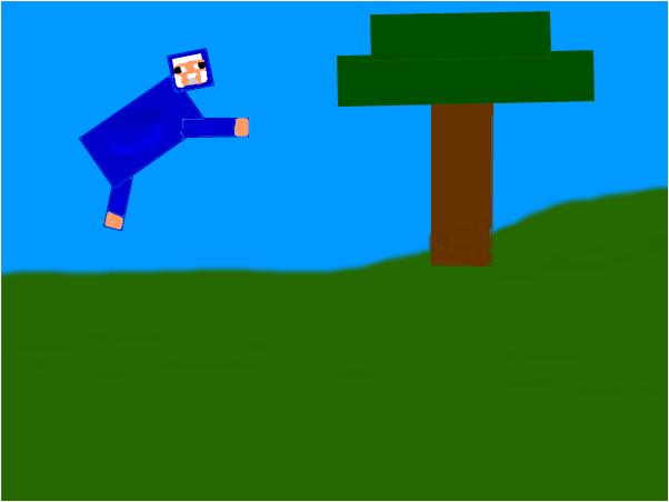 Z flying blue sheep