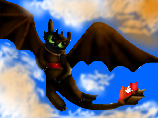 Toothless in the sky