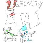 Sunday skool trio! -Squire, Spot AND BOLT YO!!