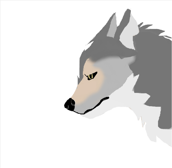 wolf that looks mad bruh
