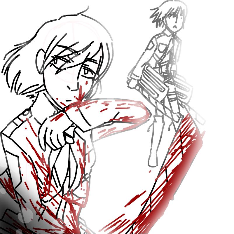Mikasa Ackerman and Armin Arlet