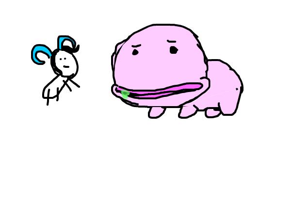 blob fish (half mammal) and Antie