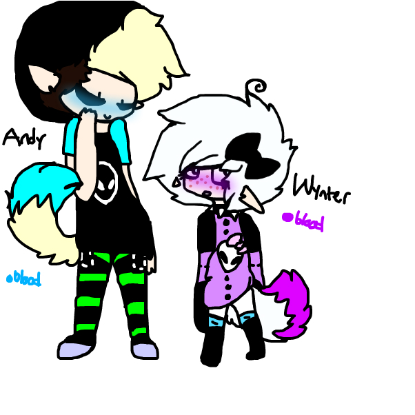 Alien!Andy and Wynter