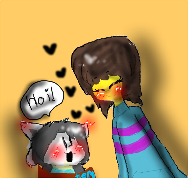 temmie and frisk-kena