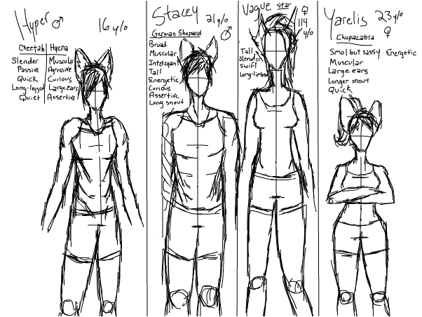 Character figure and trait ref. ~Amp