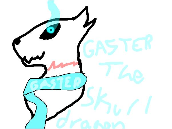 Gaster the skull dragon