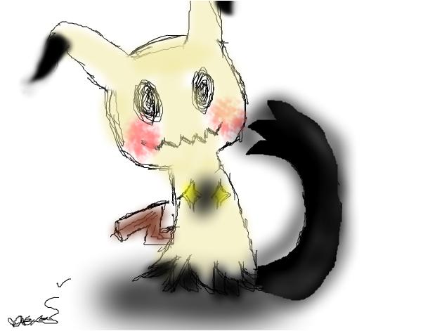 a lazy sketch of mimikyu