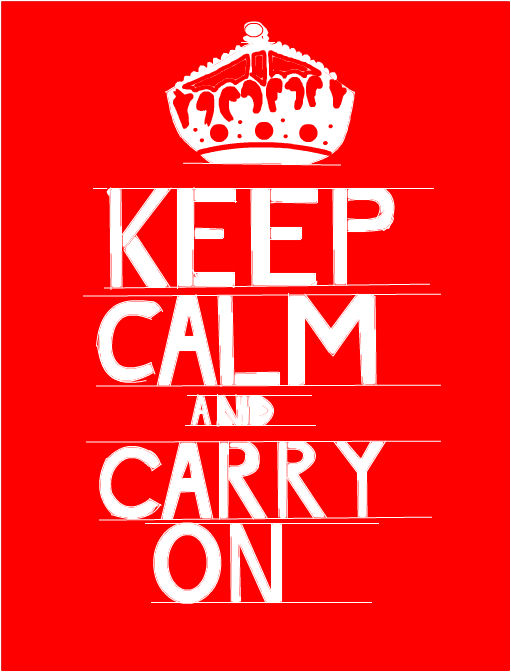 Messy Keep Calm And Carry On