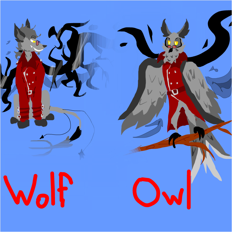 Quix as a lame wolf and an owl :,)