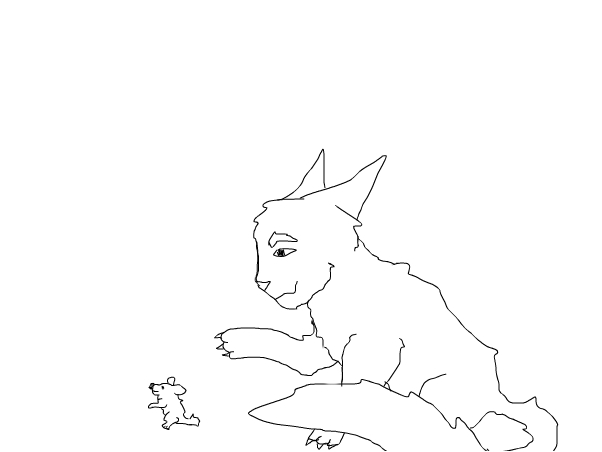 Firepaw Hunting A Mouse