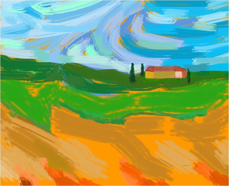 colline nei pressi di castelfiorentino