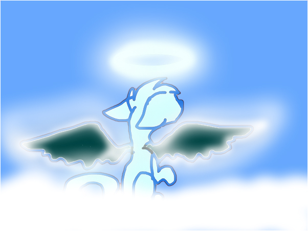 Agel in the clouds