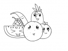 Black-and-White Chibi Fruits